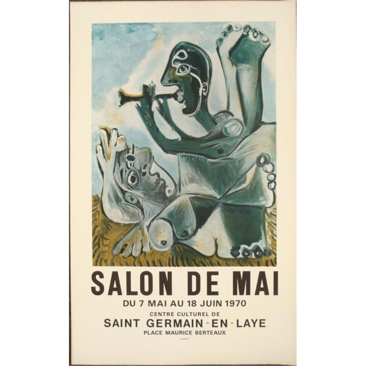 Salon De The A Paris Pablo Picasso Salon De Mai Paris Tradeshow Art Print